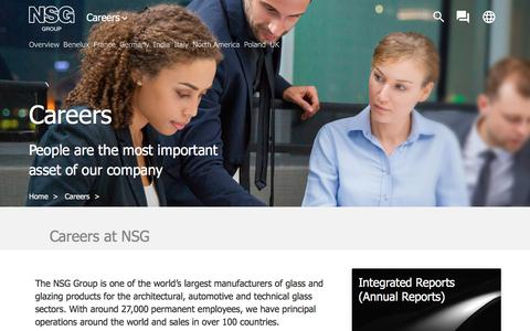 Screenshot of Jobs Page nsg.com - Careers - captured July 15, 2019