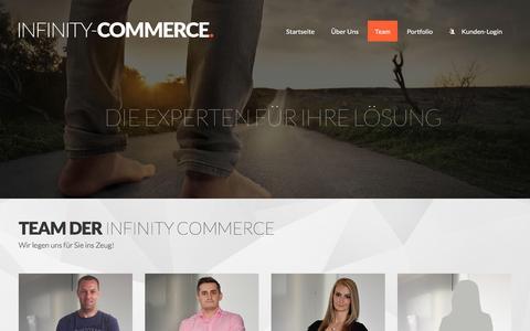 Screenshot of Team Page infinity-commerce.com - Team | Infinity Commerce s.r.o. Ecommerce Full Service Agentur - Magento, Projektrealisierung und Webdesign aus einer Hand - captured June 2, 2016