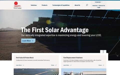 Screenshot of Login Page firstsolar.com - Vertically Integrated Utility-Scale PV Power Solutions Provider | First Solar - captured July 20, 2014