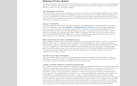 Screenshot of Privacy Page Terms Page lockheedmartin.com - Disclaimer · Lockheed Martin - captured July 20, 2014