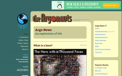 Screenshot of Press Page theargonauts.com - Argo News: An Exploration of Life. - captured Jan. 11, 2016