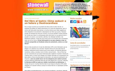 Screenshot of Home Page stonewall.es - Editorial Stonewall - captured Sept. 27, 2018