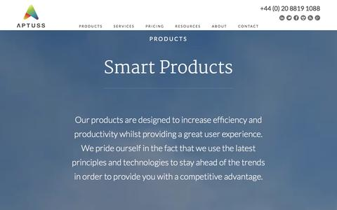 Screenshot of Products Page aptuss.com - NetSuite Products - Aptuss London UK NetSuite Consultants - captured Dec. 26, 2015
