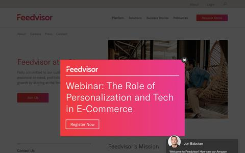 Screenshot of About Page feedvisor.com - About | Feedvisor - captured July 24, 2019