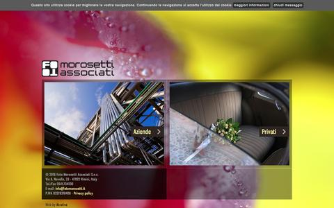 Screenshot of Home Page fotomorosetti.it - Foto Morosetti: studio fotografico con sala di posa Rimini - captured Feb. 10, 2016