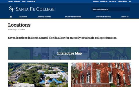Screenshot of Locations Page sfcollege.edu - Locations - captured Feb. 24, 2018