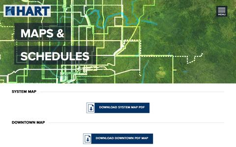 Screenshot of Maps & Directions Page gohart.org - Bus-Map-Schedules - captured Nov. 9, 2016