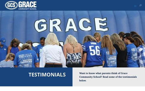 Screenshot of Testimonials Page gracetyler.org - Testimonials | Grace Community School | Tyler TX - captured Sept. 30, 2018