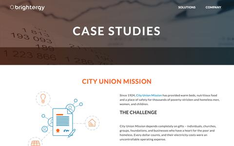 Screenshot of Case Studies Page brightergy.com - Case Studies - Brightergy - captured Oct. 6, 2018