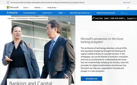 Financial Services - Banking & Capital Markets - Microsoft Enterprise