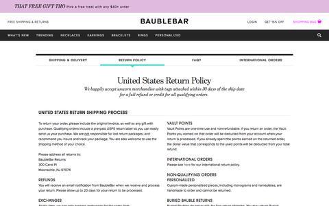 Return Policy   BaubleBar