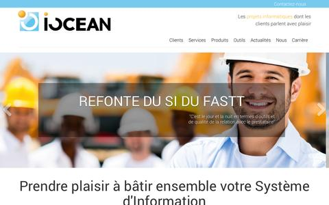 Screenshot of Home Page iocean.fr - IOCEAN: Accueil - captured Sept. 30, 2014