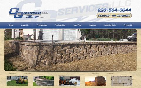 Screenshot of Home Page cgservicesllc.com - Sheboygan Lawn Maintenance & Landscaping - CG Services - captured May 11, 2017