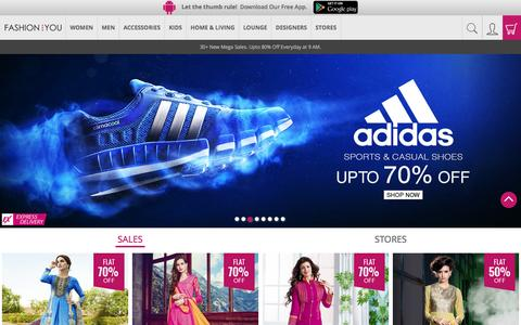 Screenshot of Home Page fashionandyou.com - Online Shopping India: Latest Trends in Fashion Clothing - captured Dec. 2, 2015
