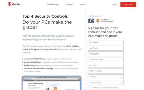 Top 4 Security Controls - Qualys, Inc.