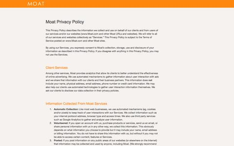 Privacy Policy - Moat