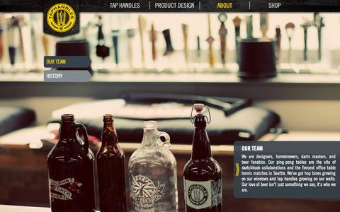 Screenshot of Team Page taphandles.com - Our Team | Taphandles | Products that SELL MORE BEER: taps, signs, logos & more... - captured Oct. 27, 2014
