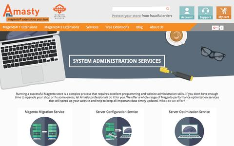 Screenshot of Services Page amasty.com - Magento Services from Experienced Amasty Developers - captured May 29, 2017