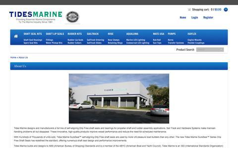 Screenshot of About Page tidesmarine.com - Tides Marine About Us Information - captured Dec. 2, 2016
