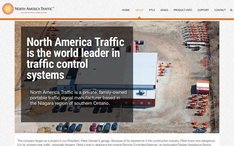 Screenshot of About Page northamericatraffic.com - North America Traffic | Canadian manufacturer of traffic signals - captured Feb. 22, 2016