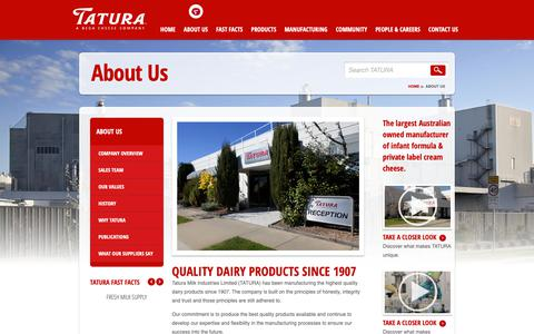 Screenshot of About Page tatura.com.au - About Us - Tatura - captured Oct. 20, 2018