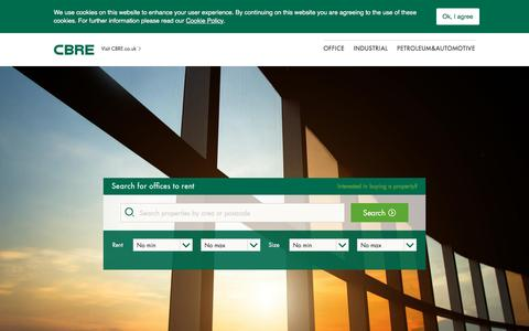 Screenshot of Privacy Page Contact Page cbre.co.uk - CBRE | UK | Commercial Property Search | CBRE Commercial - captured March 11, 2017