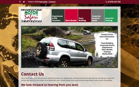 Screenshot of Contact Page motor-safari.co.uk - Contact Us | Motor Safari - captured Oct. 8, 2014