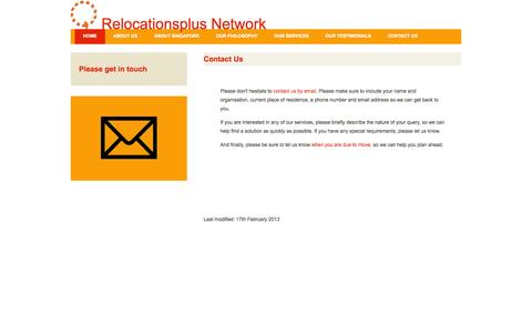 Screenshot of Contact Page relocationsplus.com - Contact Us - captured Oct. 7, 2014