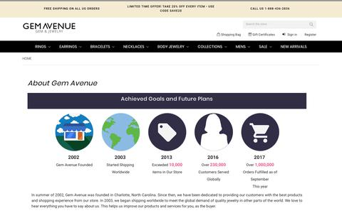 Screenshot of About Page gemavenue.com - About us | Gem Avenue - captured Nov. 19, 2018