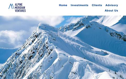 Screenshot of Home Page alpinemeridian.com - Alpine Meridian - captured Nov. 12, 2018