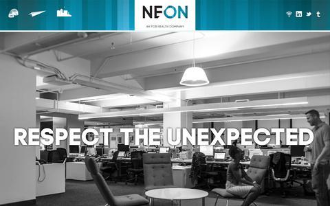 Screenshot of Home Page neon-nyc.com - Neon | An FCB Health Company - captured Feb. 22, 2016