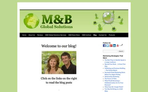 Screenshot of Blog mandbglobalsolutions.com - M&B Blog | - captured Sept. 23, 2014