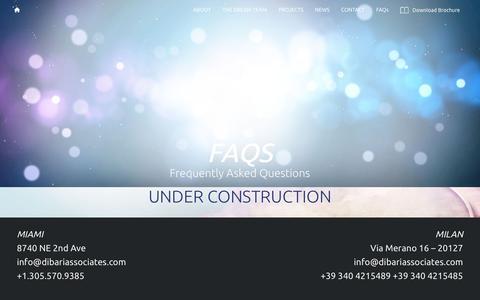 Screenshot of FAQ Page dibari-id.com - FAQs – DiBari & Associates - captured Oct. 9, 2018