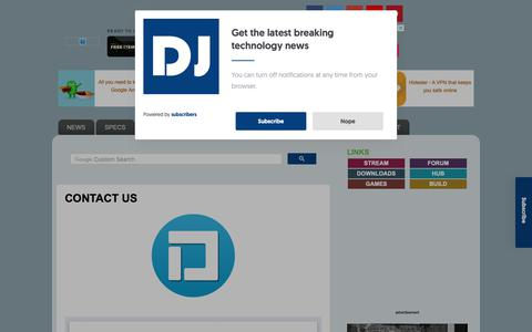 Screenshot of Contact Page djsmobiles.com - DJs Mobiles - Technology Blog: CONTACT US - captured Nov. 6, 2018