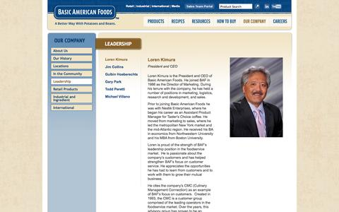 Screenshot of Team Page baf.com - Leadership - captured Oct. 5, 2014