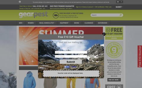 Screenshot of Home Page gearpest.com - Gear Pest - captured Sept. 20, 2015