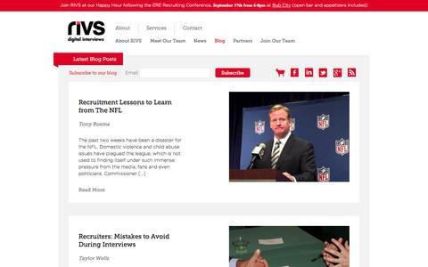 Screenshot of Blog rivs.com - RIVS | Digital Interviews | Video Interviews | Job Applicant Management | Efficient Hiring - captured Sept. 17, 2014