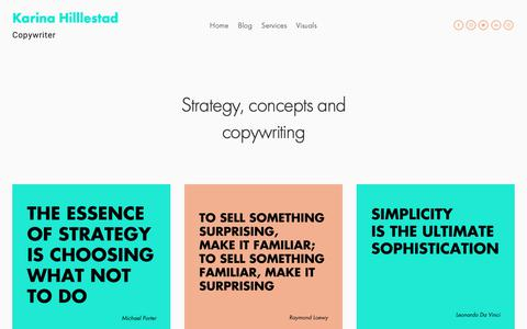 Screenshot of Services Page wondrbird.com - Services — Karina Hilllestad - captured Nov. 3, 2018