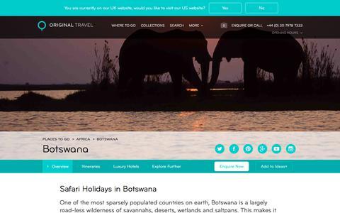 Luxury Holidays Botswana | Amazing Safari Holidays & More