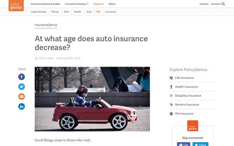 At what age does auto insurance decrease? | PolicyGenius