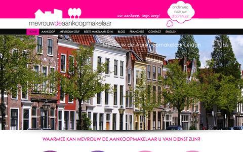 Screenshot of Home Page mevrouwdeaankoopmakelaar.nl - Aankoopmakelaar √ Mevrouw de AankoopmakelaarMevrouw de Aankoopmakelaar - captured Jan. 10, 2016