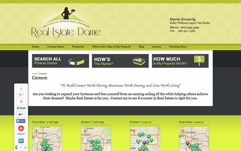 Screenshot of Jobs Page realestatedame.com - Careers - Real Estate Dame - captured Oct. 6, 2014