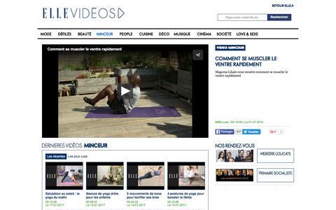 Vidéos minceur : coaching sportif forme et fitness - ELLE Vidéos
