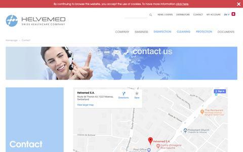 Screenshot of Contact Page helvemed.com - Contact - captured Sept. 28, 2018
