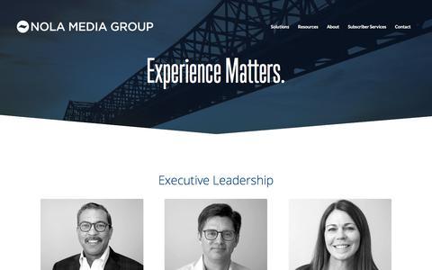 Screenshot of Team Page nolamediagroup.com - Our Team | NOLA Media Group | Advance Media Southeast - captured Sept. 22, 2018
