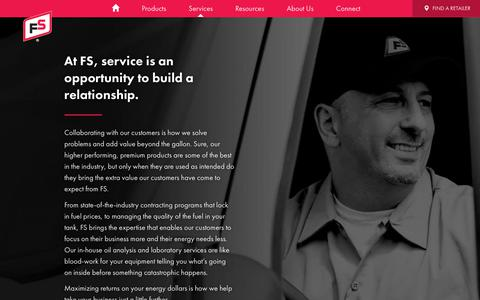 Screenshot of Services Page gofurthergofs.com - Price Risk Management, Oil Analysis and Fuel Quality Management | Growmark - captured Oct. 25, 2018