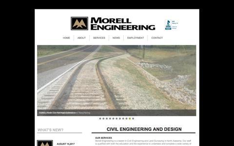 Screenshot of Home Page morellengineering.com - Home - captured Nov. 16, 2017