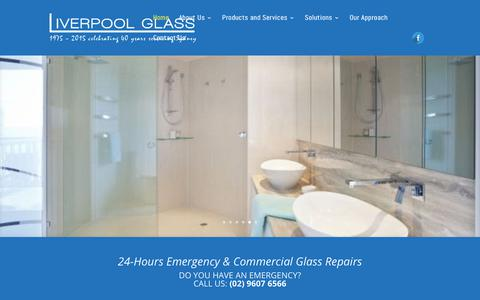 Screenshot of Home Page liverpoolglass.com.au - Liverpool Glass - 24h Glass Repair and Replacement in Sydney - captured July 21, 2018