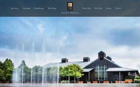 Screenshot of Home Page aowinery.com - Alpha Omega Winery - captured April 13, 2018