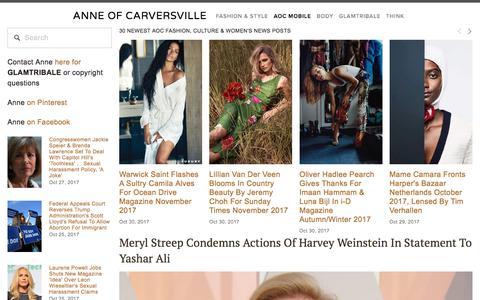 Screenshot of Team Page anneofcarversville.com - AOC MOBILE — Anne of Carversville - captured Oct. 31, 2017